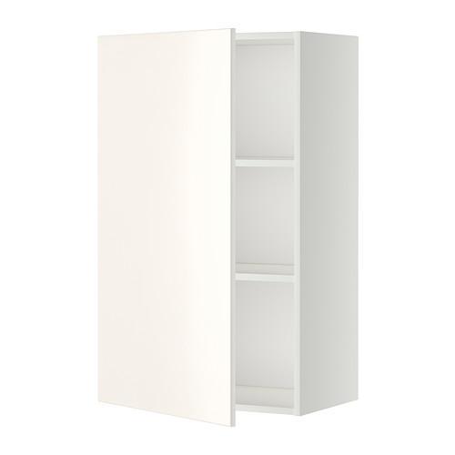 МЕТОД Шкаф навесной с полкой - 60x100 см, Веддинге белый, белый