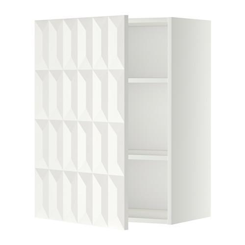 МЕТОД Шкаф навесной с полкой - 60x80 см, Гэррестад белый, белый