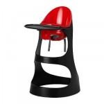 seggiolone LEOPARD con tavoli Fly - nero / rosso