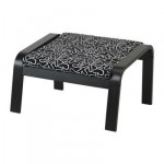 Poeng Footstool - Eslёv black / white, black and brown