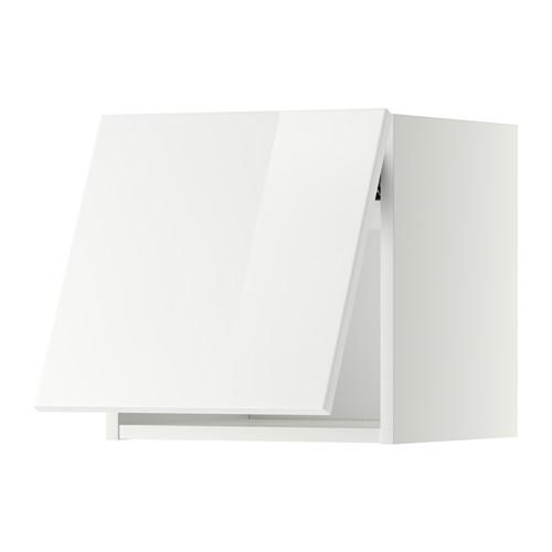 МЕТОД Горизонтальный навесной шкаф - 40x40 см, Рингульт глянцевый белый, белый