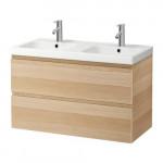 GODMORGON / Odensvik évier armoire à tiroirs 2 - chêne blanchi