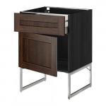 МЕТОД / МАКСИМЕРА Напольный шкаф с ящиком/дверью - 60x60x60 см, Эдсерум под дерево коричневый, под дерево черный