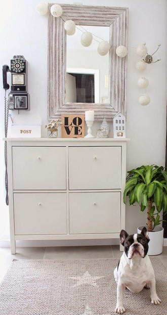 Shoe cabinet IKEA HEMNES - selection of interior hallways