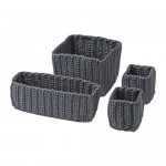 NORDREN Juego de cestos, piezas 4 - gris