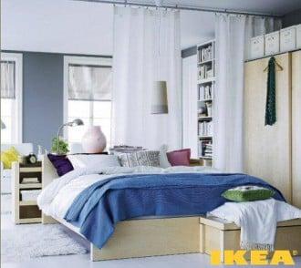 Вариант интерьера спальни для квартиры-студии