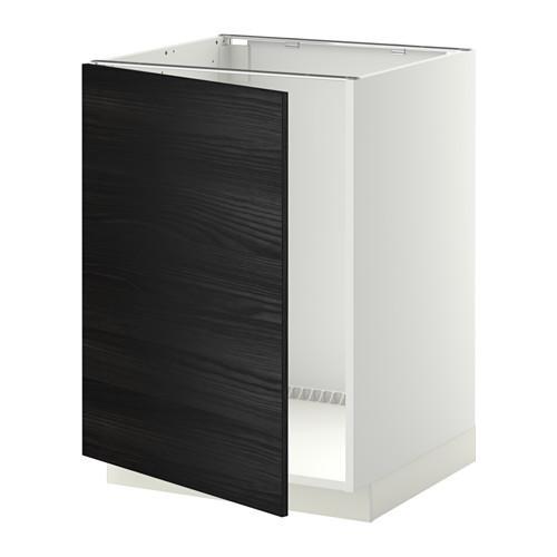 МЕТОД Напольный шкаф для раковины - Тингсрид под дерево черный, белый