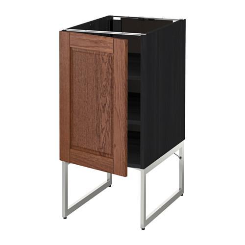 МЕТОД Напольный шкаф с полками - 40x60x60 см, Филипстад коричневый, под дерево черный