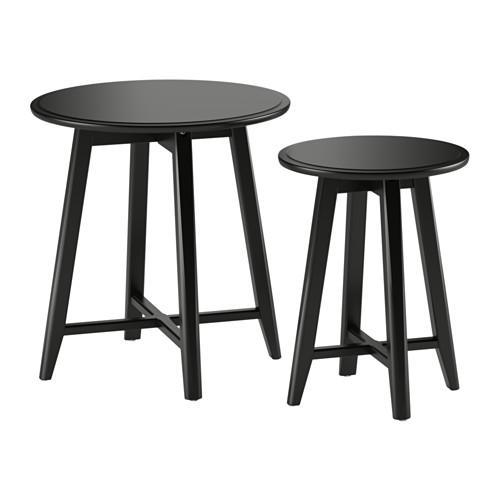 КРАГСТА Комплект столов, 2 шт - черный