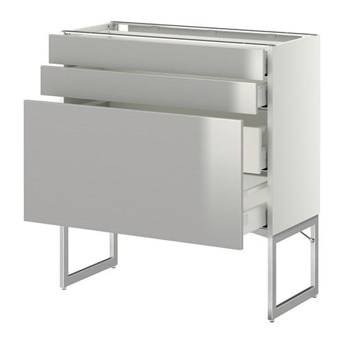 methode maksimera unterschrank 3front pnl 2niz 2sr schubladen wei grevsta edelstahl. Black Bedroom Furniture Sets. Home Design Ideas