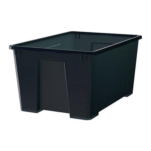 САМЛА Контейнер - черный, 57x39x28 см/45 л