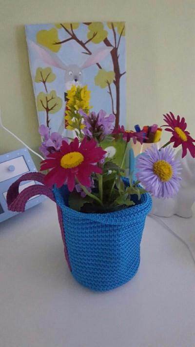 Горшок для цветов из корзины СТИККАТ