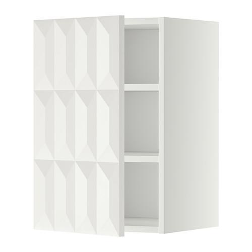МЕТОД Шкаф навесной с полкой - 40x60 см, Гэррестад белый, белый