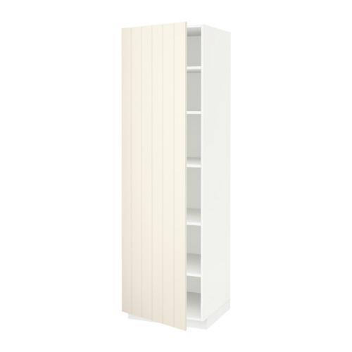 МЕТОД Высок шкаф с полками - 60x60x200 см, Хитарп белый с оттенком, белый