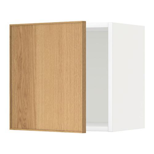 МЕТОД Шкаф навесной - 40x40 см, Экестад дуб, белый