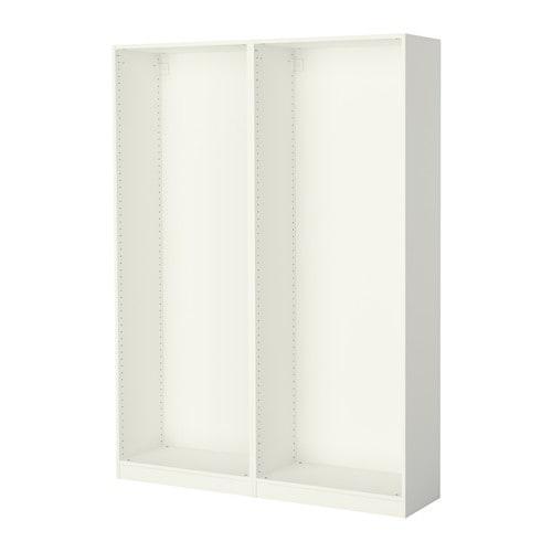ПАКС 2 каркаса гардеробов - белый, 150x35x201 см