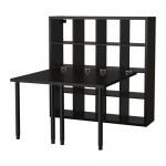 KALLAX bordkombinasjon svartbrun 147x159x147 cm