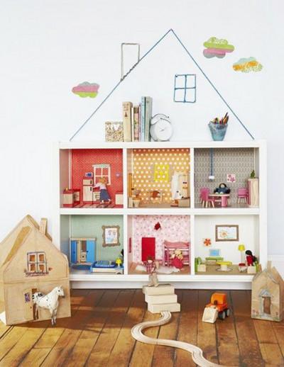 Ďalšie nápad na domček pre bábiky rack Kallax
