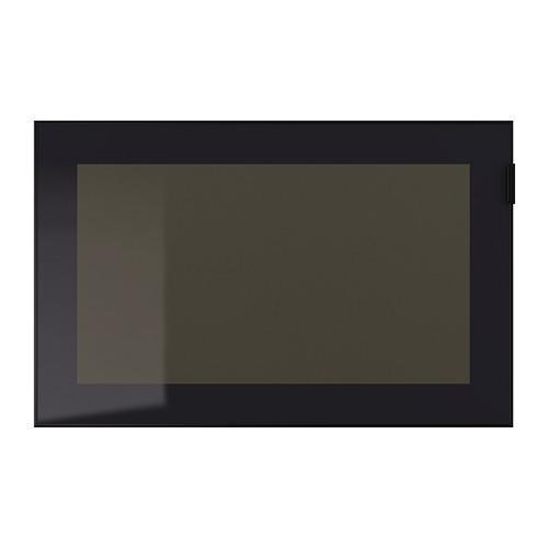 ГЛАССВИК Стеклянная дверь - черный/дымчатое стекло