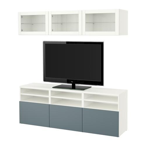 Tv Meubel Wit Besta.Bessto Kabinet Voor Tv Combinatie Glazen Deuren Wit