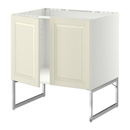 МЕТОД Напольн шкаф д раковины+2 двери - Будбин белый с оттенком,
