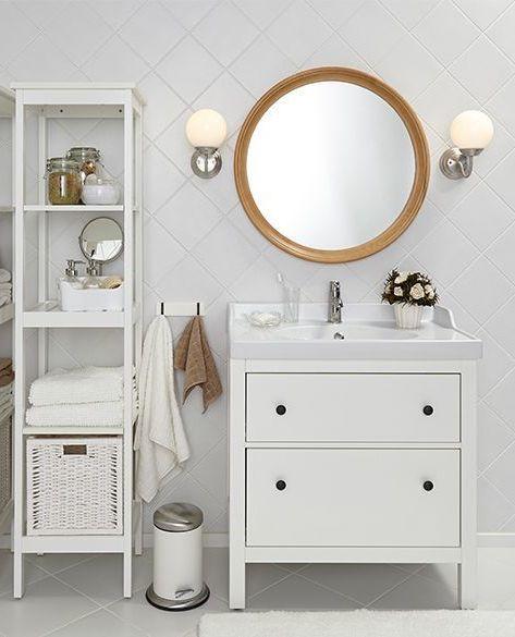 Łazienka w kolorze białym z IKEA HEMNES
