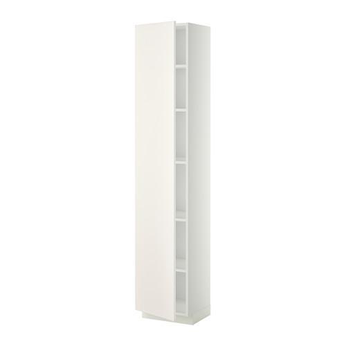 МЕТОД Высок шкаф с полками - 40x37x200 см, Веддинге белый, белый