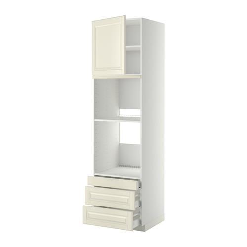 МЕТОД / МАКСИМЕРА Выс шкаф д/дхвк/комб дхвк+двр/3ящ - 60x60x220 см, Будбин белый с оттенком, белый