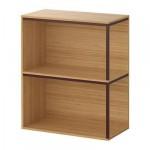 ИКЕА ПС 2014 Комбинация для хранения - бамбук/темно-красный