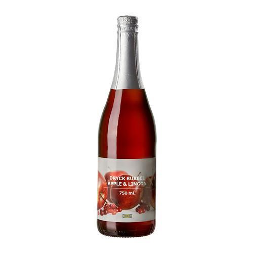 DRYCK BUBBEL ÄPPLE & LINGON Газирован напиток яблоко/брусника