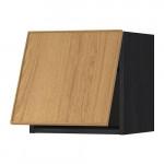 МЕТОД Горизонтальный навесной шкаф - 40x40 см, Экестад дуб, под дерево черный
