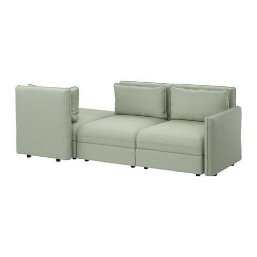 ВАЛЛЕНТУНА 3-местный диван - Хилларед зеленый