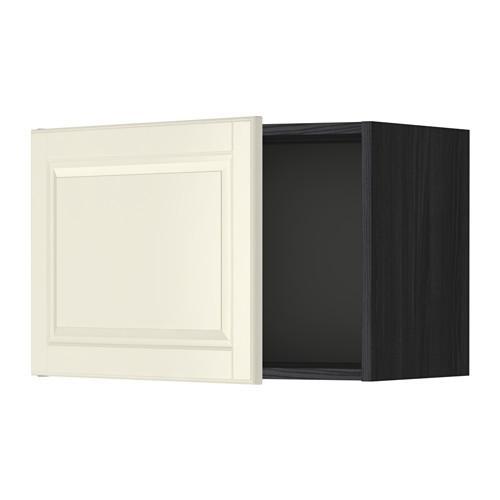 МЕТОД Шкаф навесной - 60x40 см, Будбин белый с оттенком, под дерево черный