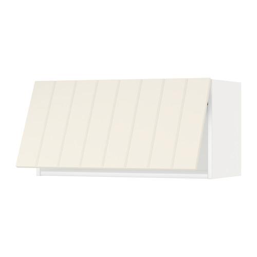 МЕТОД Горизонтальный навесной шкаф - 80x40 см, Хитарп белый с оттенком, белый