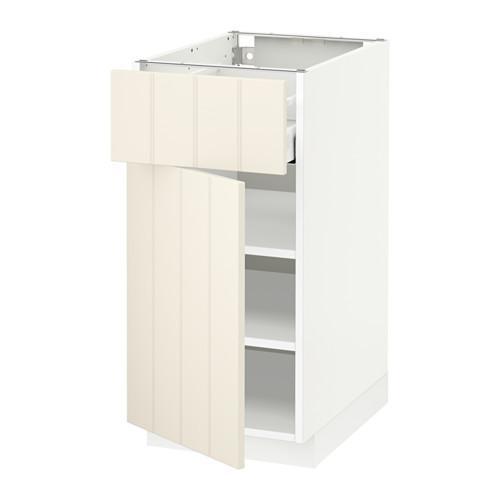 МЕТОД / МАКСИМЕРА Напольный шкаф с ящиком/дверью - 40x60 см, Хитарп белый с оттенком, белый