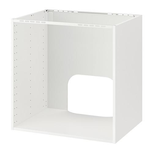 МЕТОД Напольный шкаф д/встр духовки/мойки - белый, 80x60x80 см