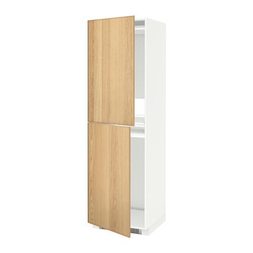 МЕТОД Высок шкаф д холодильн/мороз - 60x60x200 см, Экестад дуб, белый
