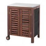 ЭПЛАРО / КЛАСЕН Модуль для хранения, садовый - коричневая морилка/цвет нержавеющей стали