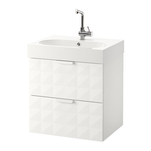 BRÅVIKEN / GODMORGON meuble évier avec tiroir 2