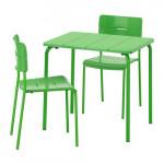 ВЭДДО Стол+2стула,д/сада - зеленый