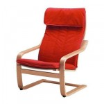Poeng Sessel - Alma klassischen roten, Buchenfurnier