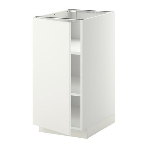 МЕТОД Напольный шкаф с полками - 40x60 см, Хэггеби белый, белый