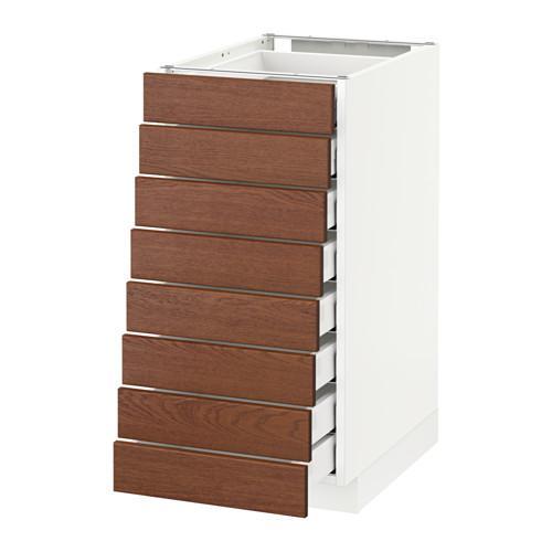 МЕТОД / МАКСИМЕРА Наполн шкаф 8 фронт/8 низк ящиков - 40x60 см, Филипстад коричневый, белый