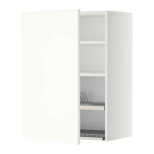 МЕТОД Шкаф навесной с сушкой - 60x80 см, Хэггеби белый, белый