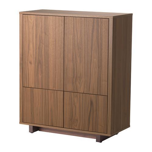 СТОКГОЛЬМ Шкаф с 2 ящиками - шпон грецкого ореха