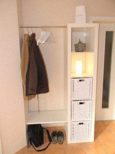 Spacious wardrobe from the shelf