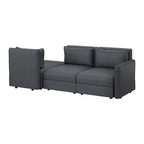 ВАЛЛЕНТУНА 3-местный диван-кровать - Хилларед темно-серый