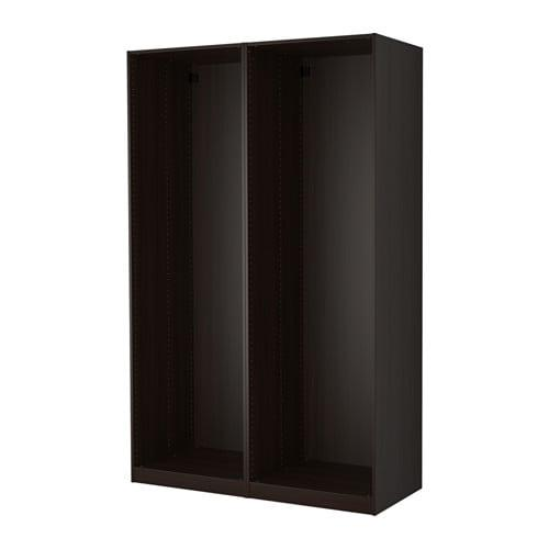 ПАКС 2 каркаса гардеробов - черно-коричневый, 150x58x236 см
