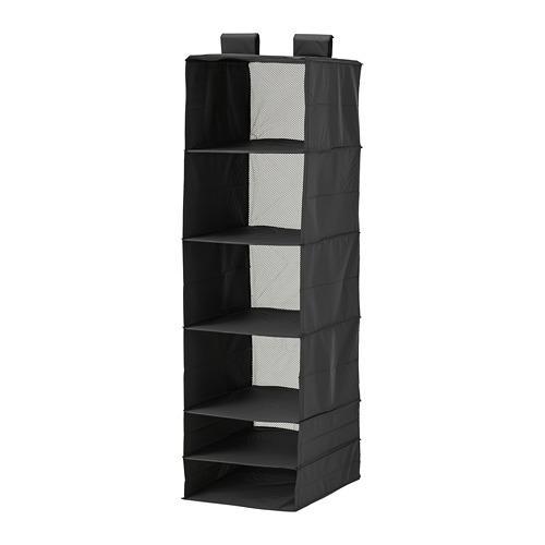 СКУББ Модуль для хранения с 6 отделениями - черный
