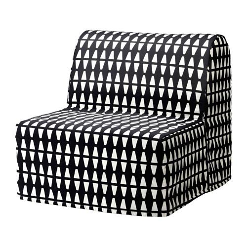 ЛИКСЕЛЕ ХОВЕТ Кресло-кровать - Эббарп черный/белый, -